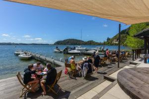 Picnic tables at Lake Rotoiti Hot Pools